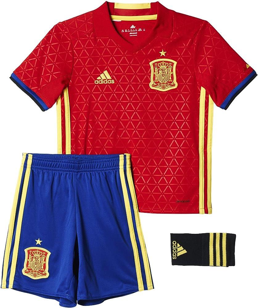 adidas UEFA Euro 2016 Conjunto 1ª Equipación Selección Española de Futbol 2016-2017, Niños, Rojo/Amarillo/Azul (Escarl/Amabri), 92: Amazon.es: Zapatos y complementos