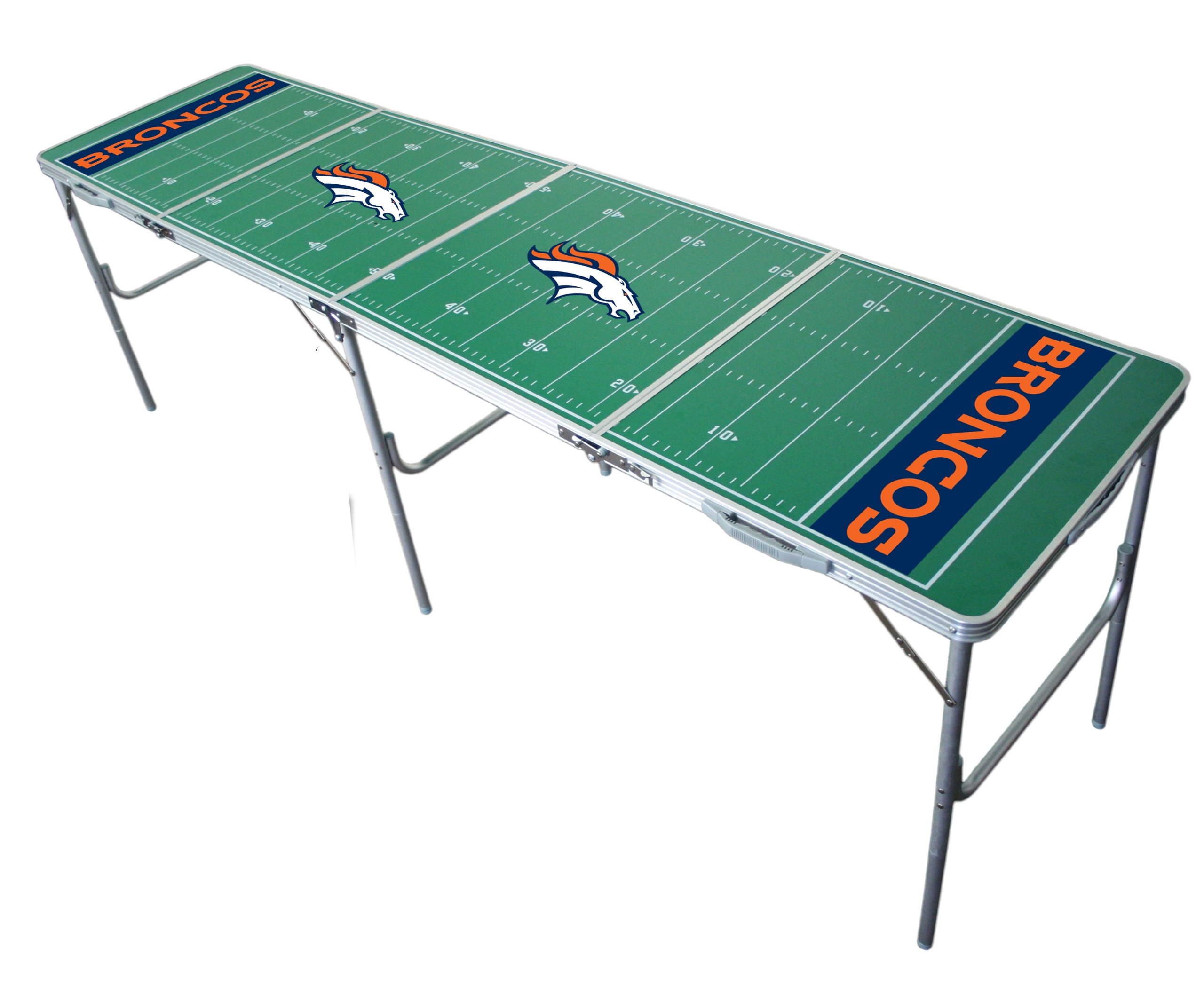 Denver Broncos 2x8 Tailgate Table by Wild Sports by Wild Sales