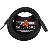 "Pig Hog PHX14-10 1/4"" TRSF to 1/4"" TRSM Headphone Extension Cable, 10 Feet"
