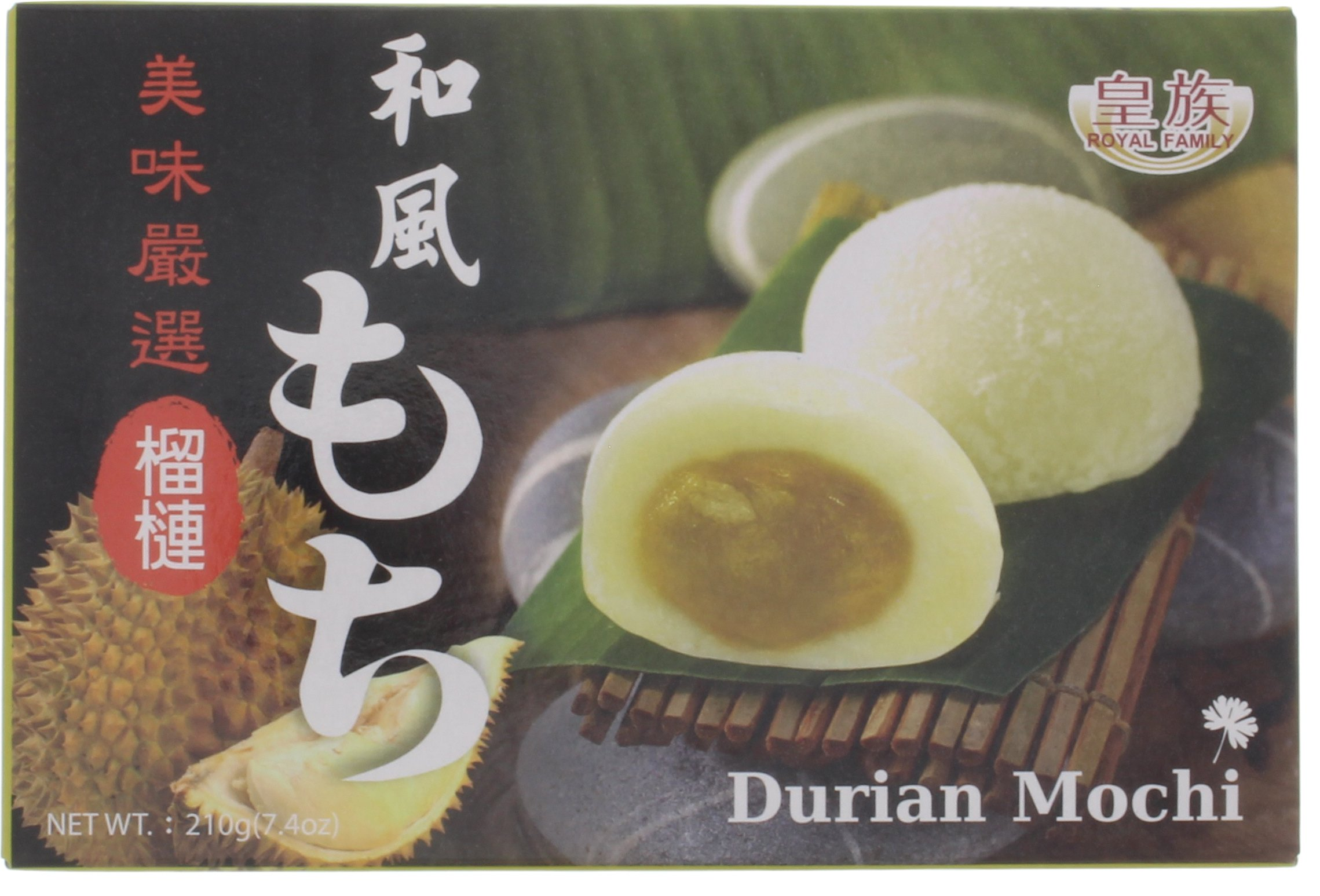Royal Family Japanese Mochi Durian, 7.4 oz (Pack of 4)