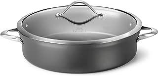 product image for Calphalon Contemporary Hard-Anodized Aluminum Nonstick Cookware, Sauteuse Pan, 7-quart, Black -