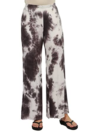 3122348c1fa 24seven Comfort Apparel Women s Clothes Tie Dye Wide Leg Palazzo Pants  Elastic Waistband - Made in