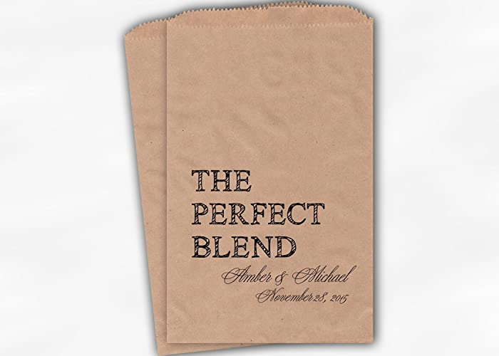 Amazon Com The Perfect Blend Wedding Favor Bags For Coffee Trail