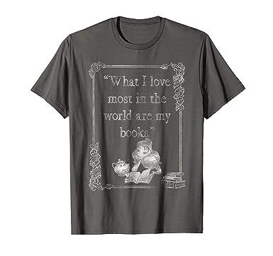 cd2e51a3c5684 Mens Disney Beauty   The Beast Belle Loves Books Graphic T-Shirt 2XL Asphalt