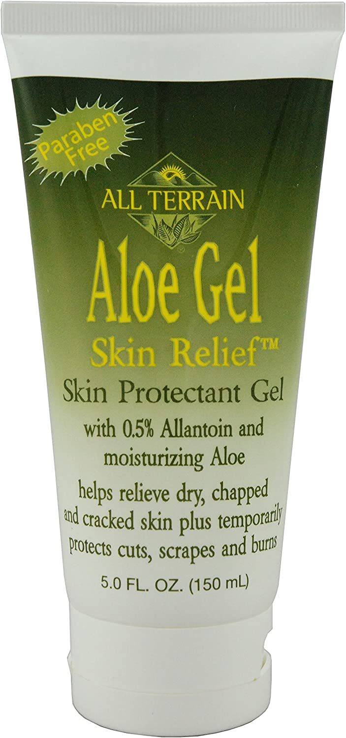 B0001584E8 All Terrain Natural Aloe Gel Skin Relief, Skin Protectant, 5oz, With Moisturizing Aloe & Allantoin 81aaO-JqyqL