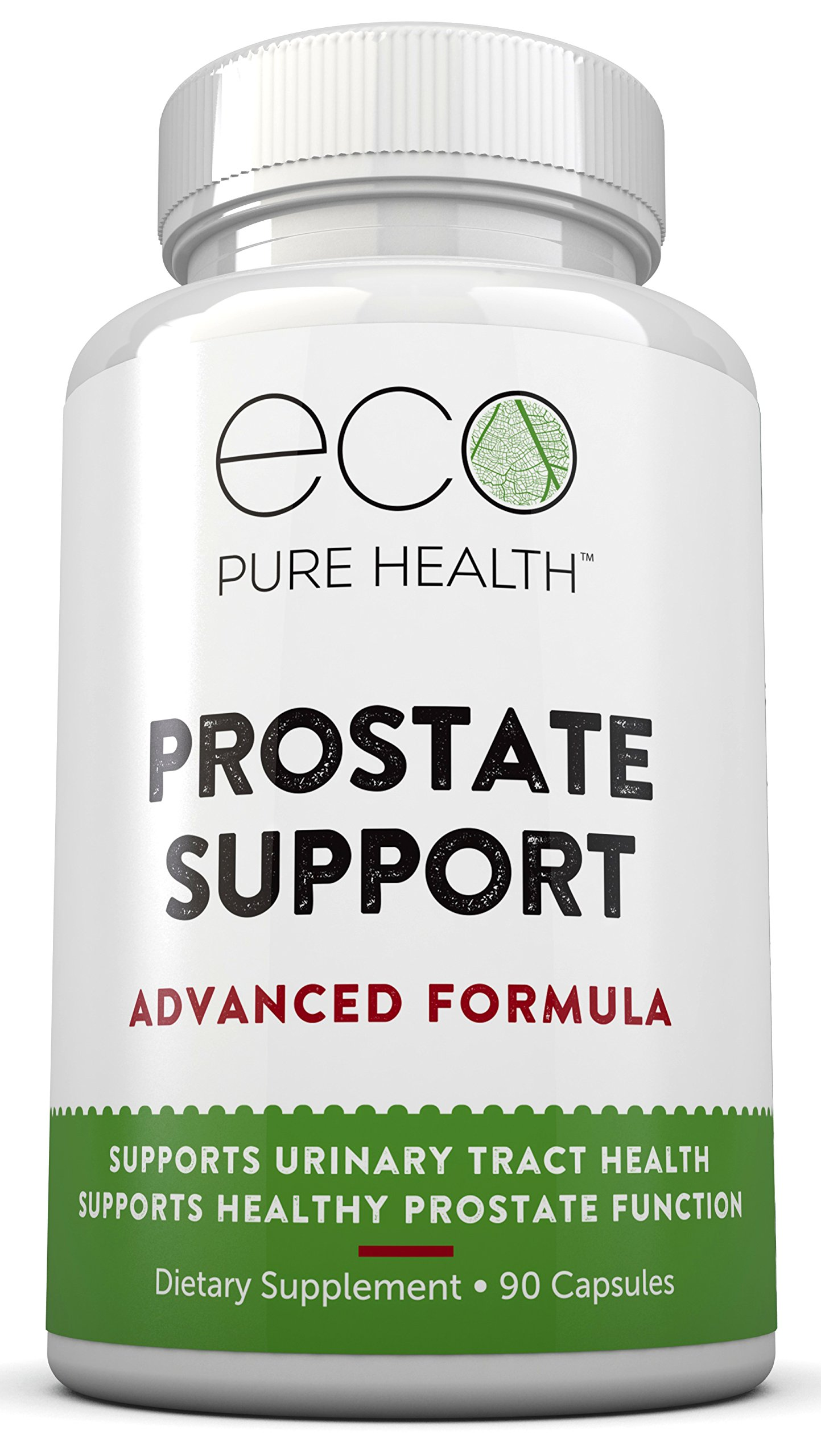 Prostate Support Advanced Formula, Natural Supplement to Support Urinary Tract Health, Healthy Prostate Function - 90 Capsules by Eco Pure Health