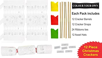 8 gold with Red Silk Make /& Fill Your Own Party Crackers-Craft Kit