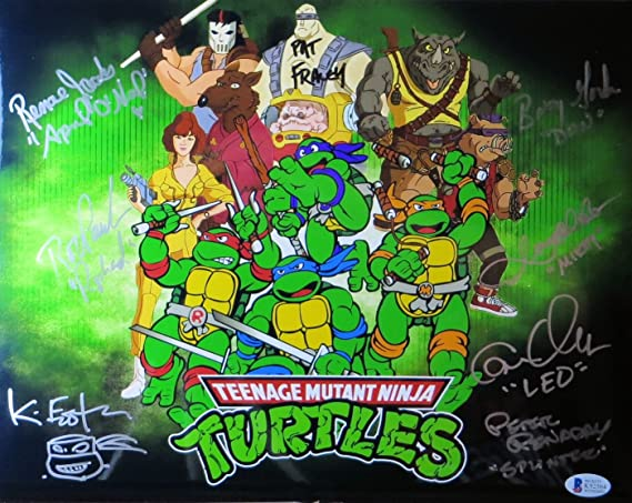Teenage Mutant Ninja Turtles Cast Signed 11X14 Photo 8 Autos ...
