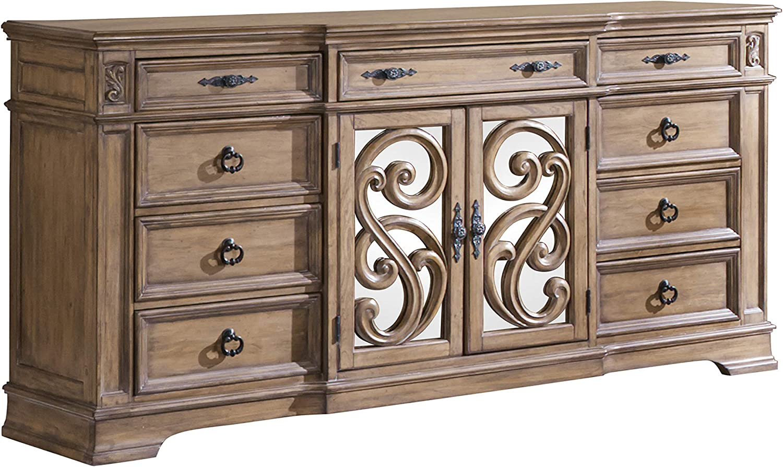 Coaster Home Furnishings Dresser, 77.5'' L x 20.78'' W x 40'' H, Rustic Pecan