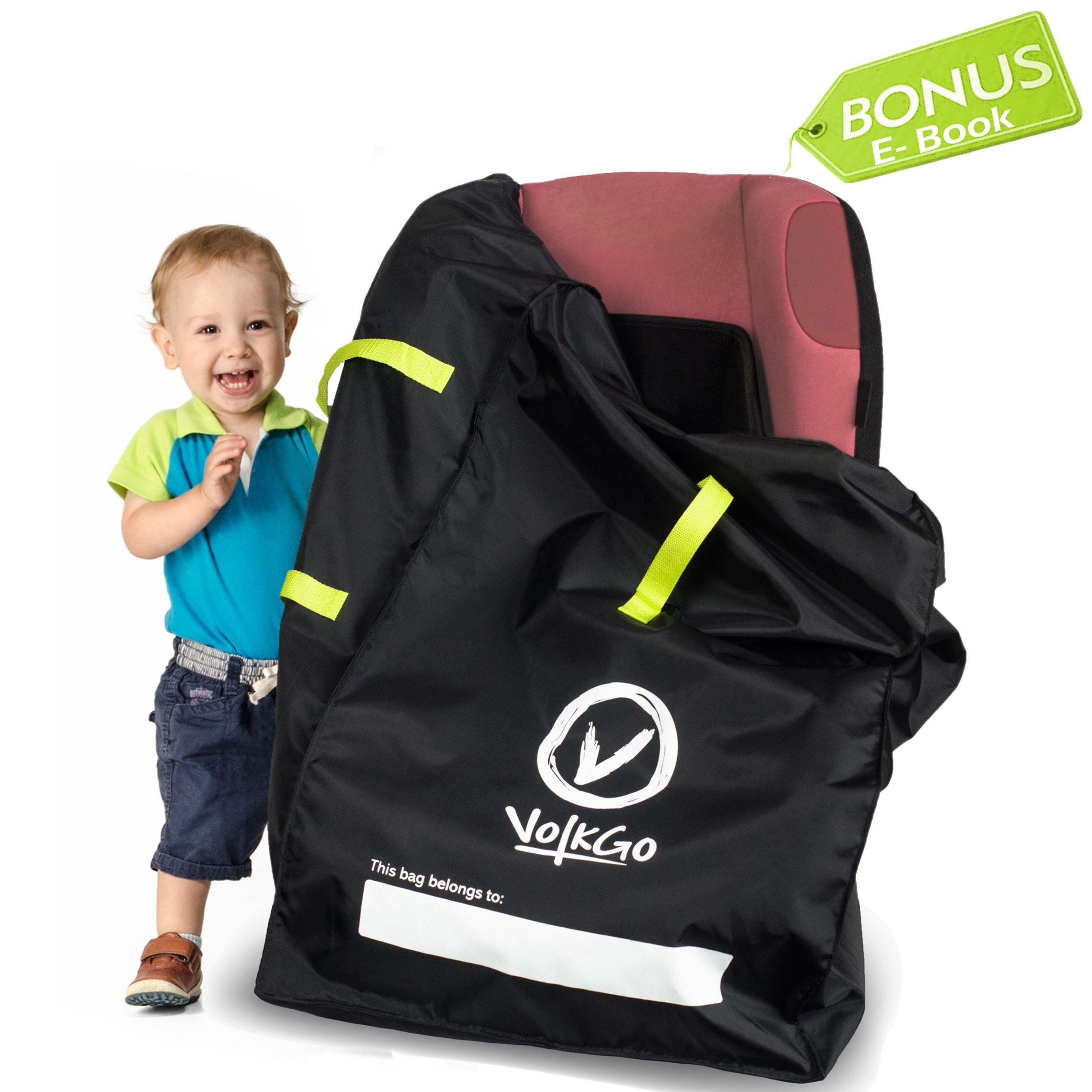 VolkGo DURABLE Car Seat Travel Bag With BONUS E BOOK Ideal Gate Check