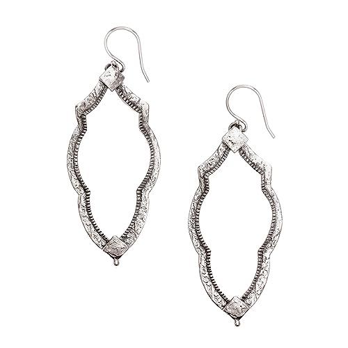 Amazoncom Silpada Vintage Frame Open Drop Earrings In Sterling