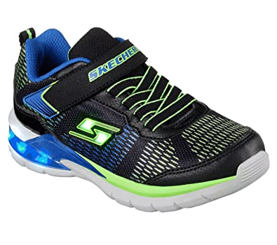 81d89e2bf68 Skechers S Lights Erupters II Lava Waves Boys Sneakers Black Blue Lime 7