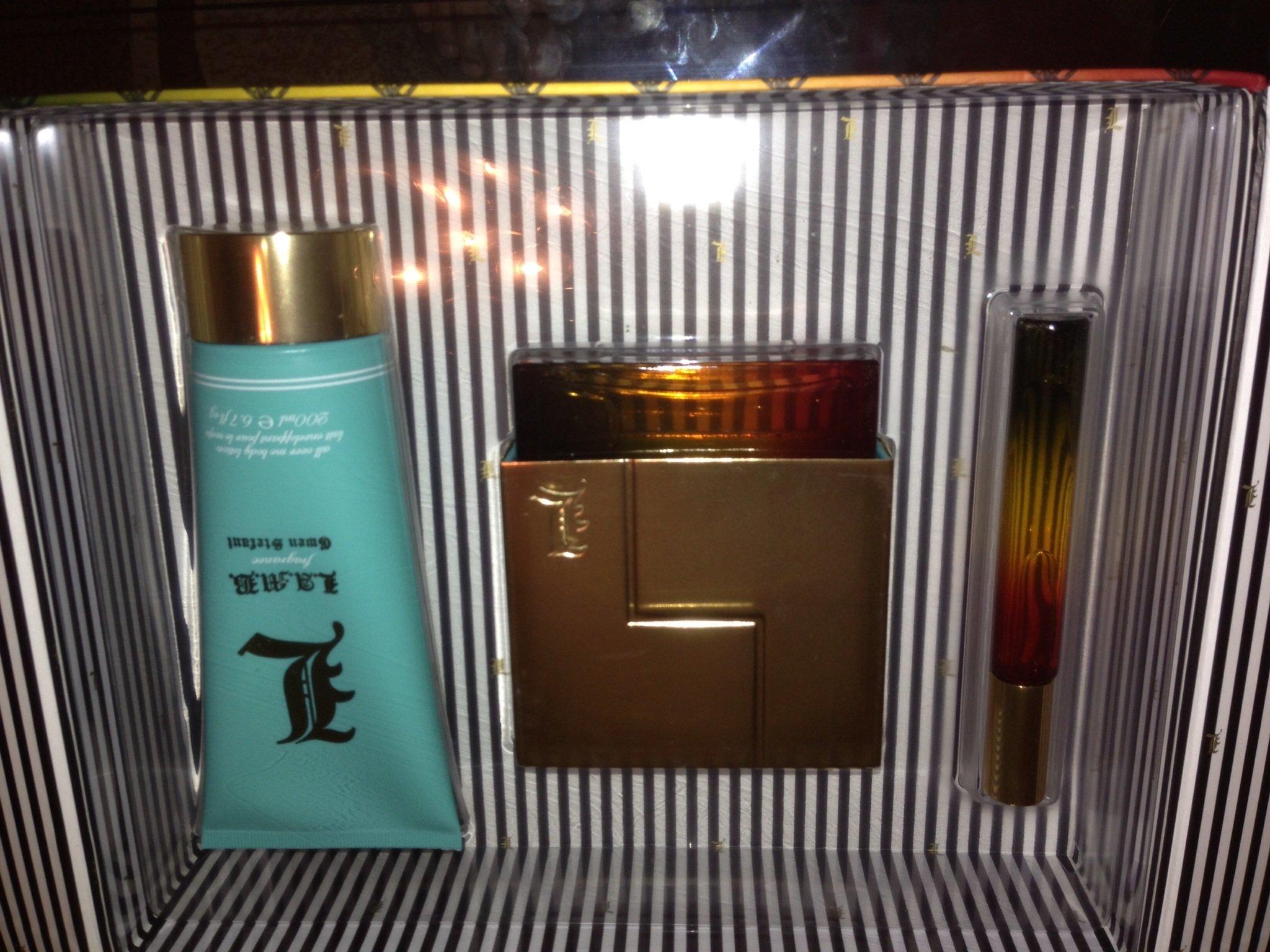 Gwen Stefani Lamb 3 Pc Parfume SET EDP 3.4 Oz 6.7 Body Lotion and EDP Roller Ball .2 Oz