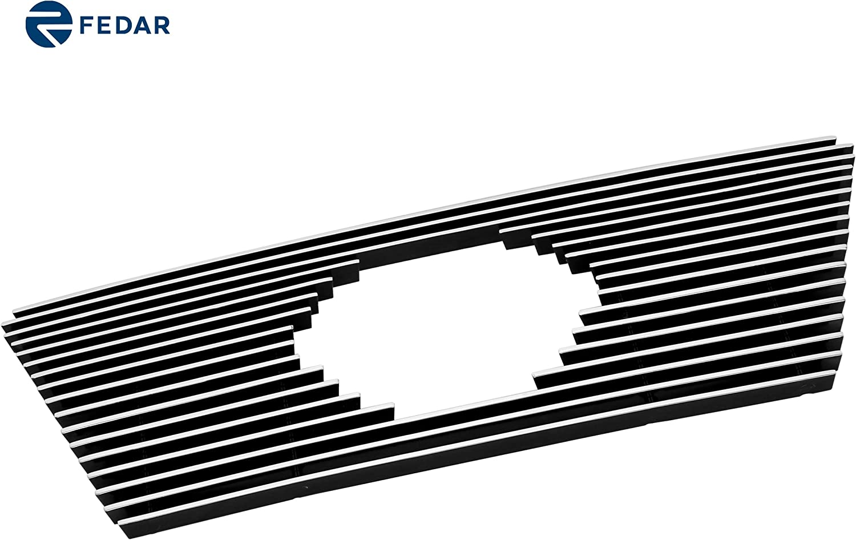 Fedar 2008-2014 Nissan Titan Logo Show Main Upper Billet Grille Grille 3-pcs Set-Black