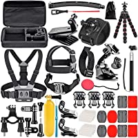 Neewer Upgraded 50-in-1 Action Camera Accessory Kit Compatible with GoPro Hero 9 8 Max 7 6 5 Black GoPro 2018 Session…