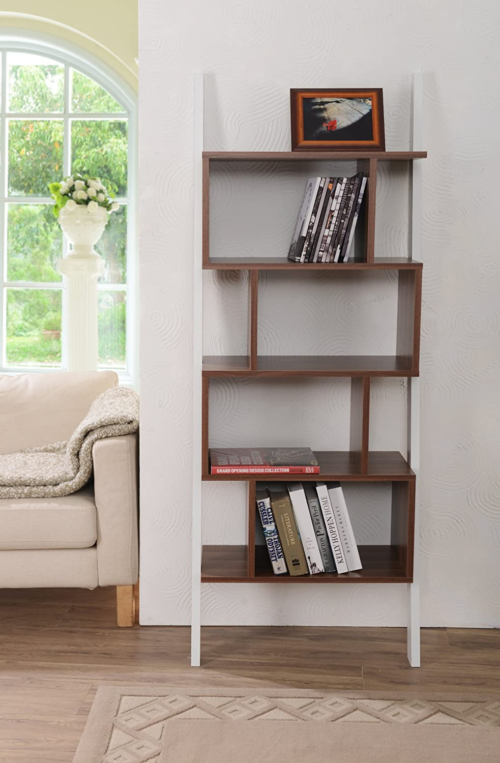 rectangular multiple item bookshelf cubed number white bookcase bookcases backless coaster products