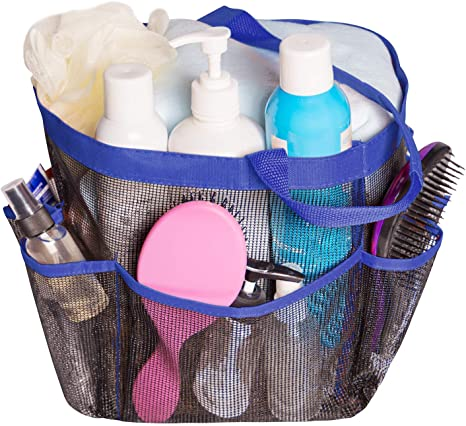 Attmu Mesh Shower Caddy for College Dorm Room Essentials, Hanging Portable Tote Bag Toiletry for Bathroom Accessories
