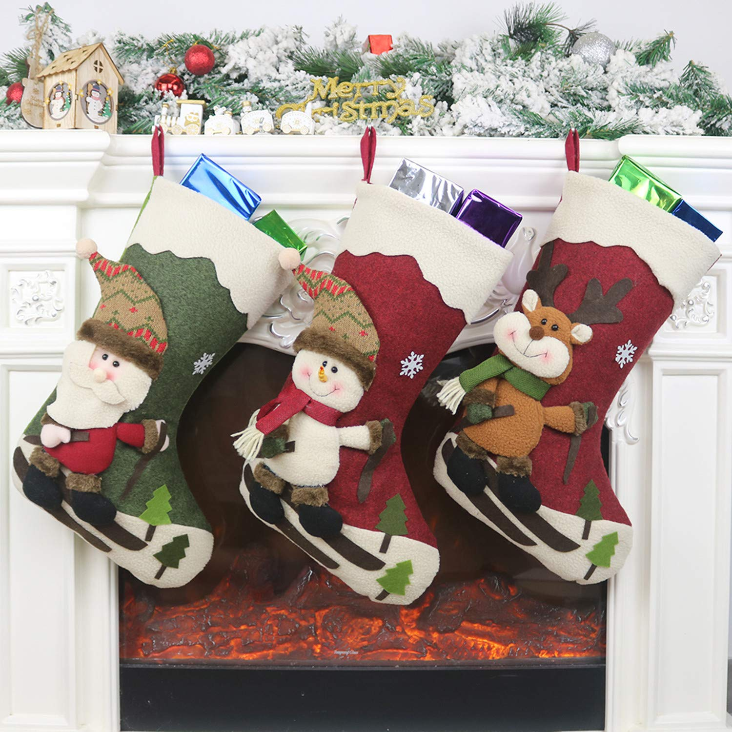 LSXD Christmas Stockings, Big Size 18\