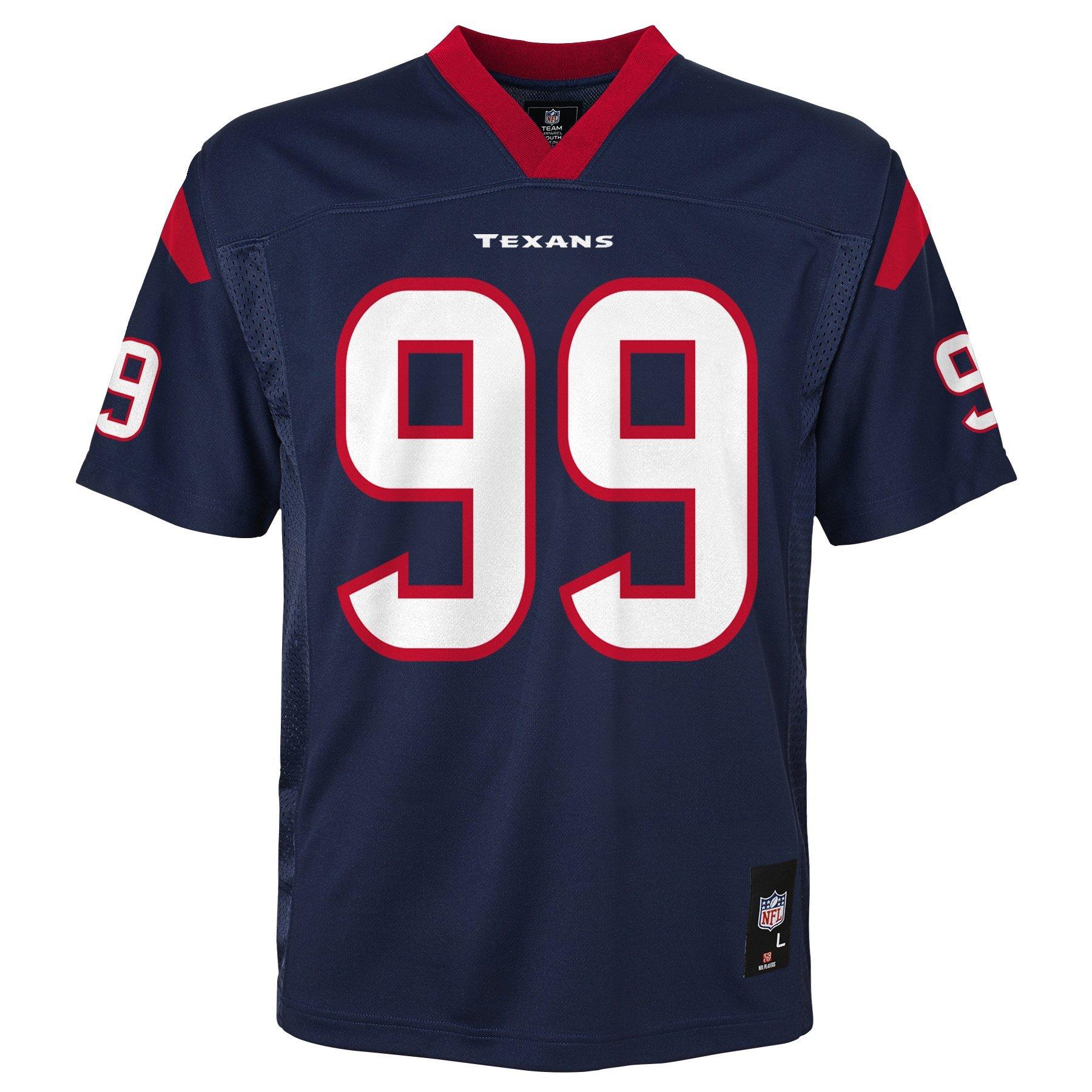 d45d23c3 NFL Youth Boys 8-20 J. J. Watt Houston Texans Boys -Player Name Jersey,  Deep Obsidian, M(10-12)