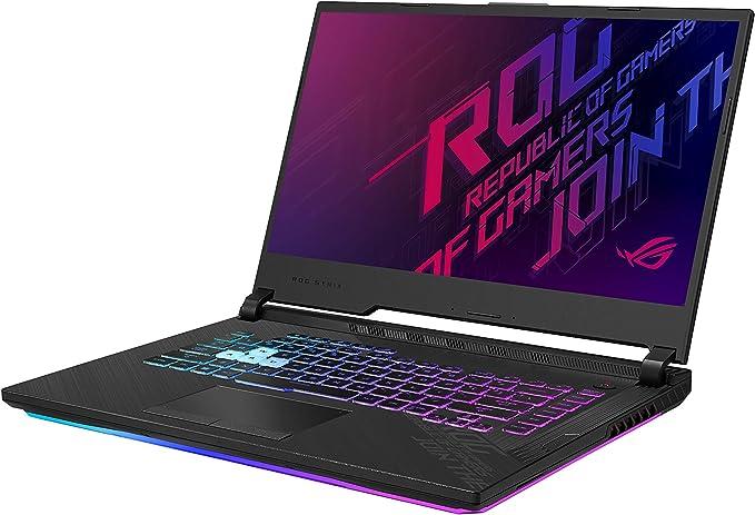 "Amazon.com: ASUS ROG Strix G15 (2020) Gaming Laptop, 15.6"" 240Hz FHD IPS Type Display, NVIDIA GeForce RTX 2070, Intel Core i7-10750H, 16GB DDR4, 1TB PCIe NVMe SSD, RGB Keyboard, Windows 10, Black, G512LW-ES76: Computers & Accessories"