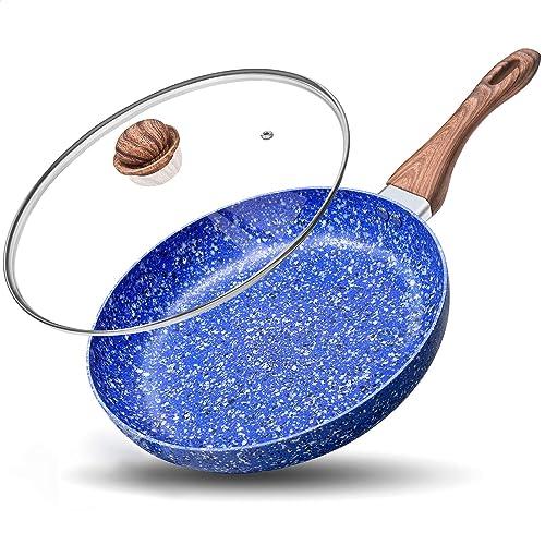 MICHELANGELO 10 Inch Non-Stick Stone Frying Pan