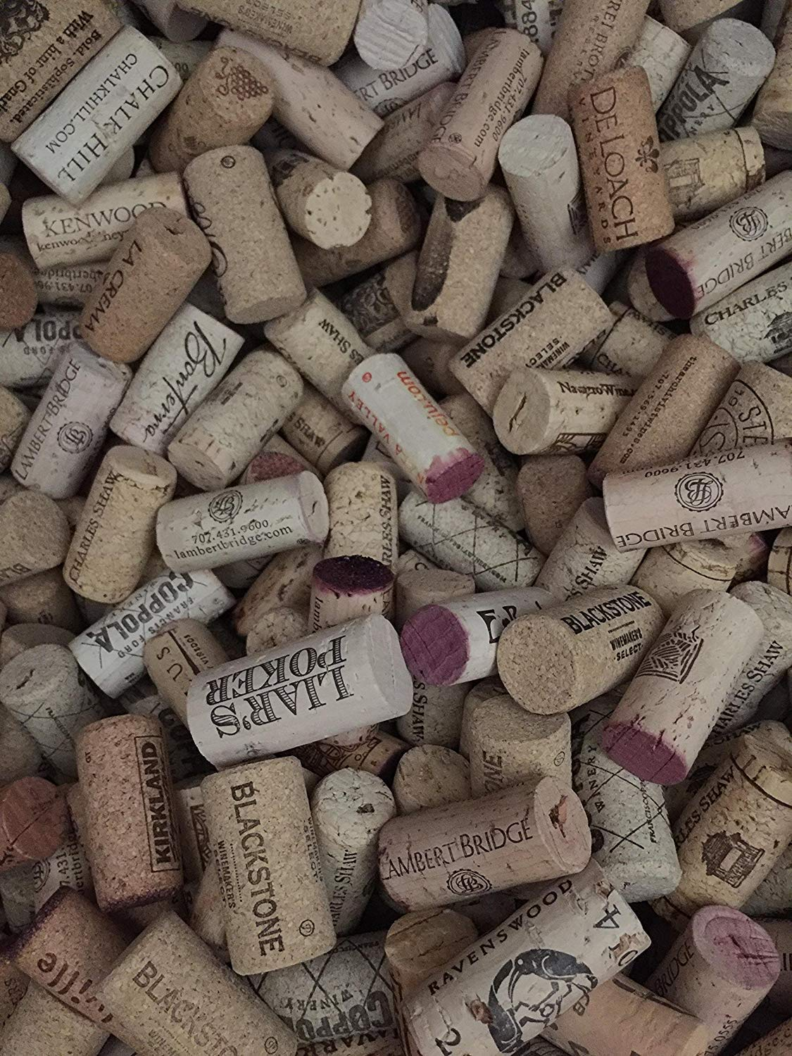 250 Count Premium Recycled Used Corks in Bulk, Natural Wine Corks From Around the Us, Best Variety, Includes Crafts Activity Sheet and Cork Cutting Instructions (250 Count) by Tuuliv (Image #1)