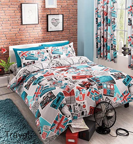 f4c5cb42733 Adam 3D NYC New York City Night Duvet/Quilt Cover Sets Bedding Sets  (Single, Italy Special): Amazon.co.uk: Kitchen & Home