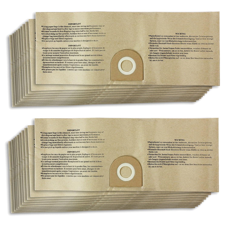 Amazon.com: SPARES2GO Wet & Dry polvo bolsas para ...