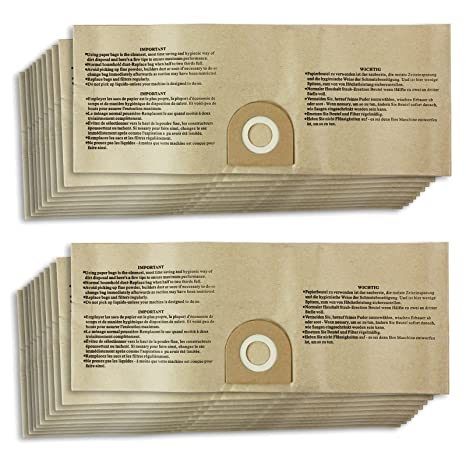 Spares2go Wet U0026 Dry Dust Bags For Vax Vacuum Cleaners (20 Pack)