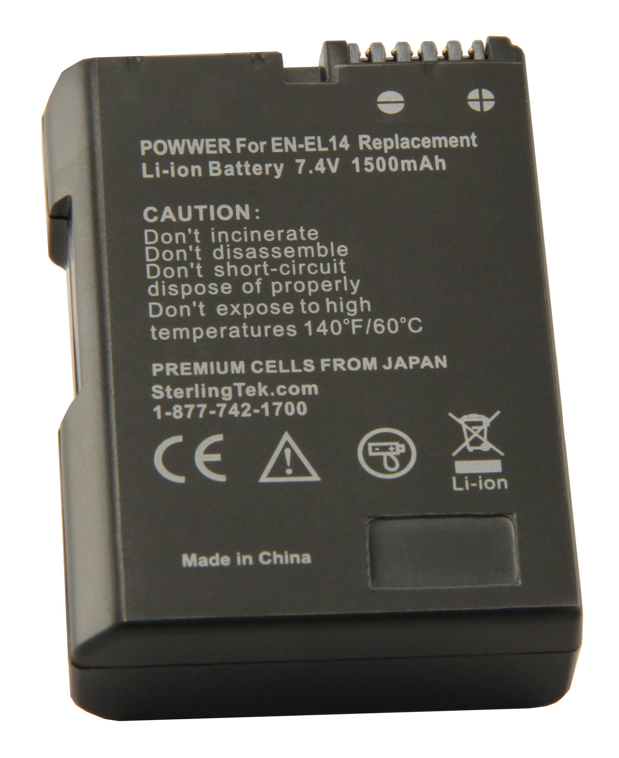STK EN-EL14 EN-EL14a Battery for Nikon D3400 D5600 D3500 D3200 D3300 D5300 D5100 D3100 D5200 Cameras and Grips by STK