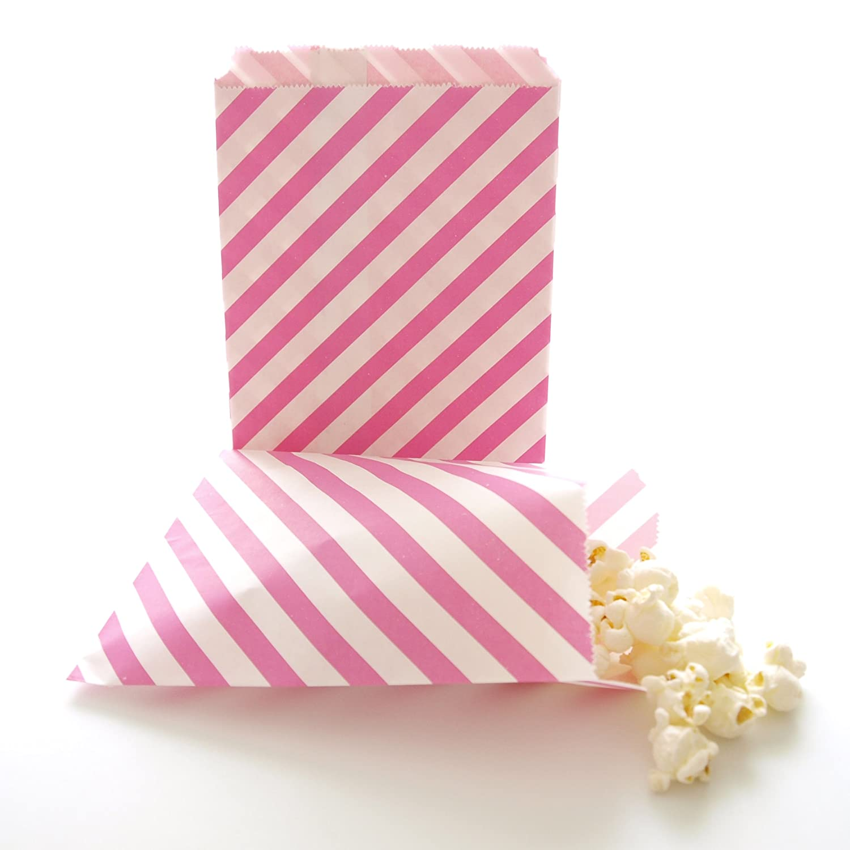 Amazon.com: Hot Pink Bulk Wedding Favor Bags / Birthday Party Loot ...