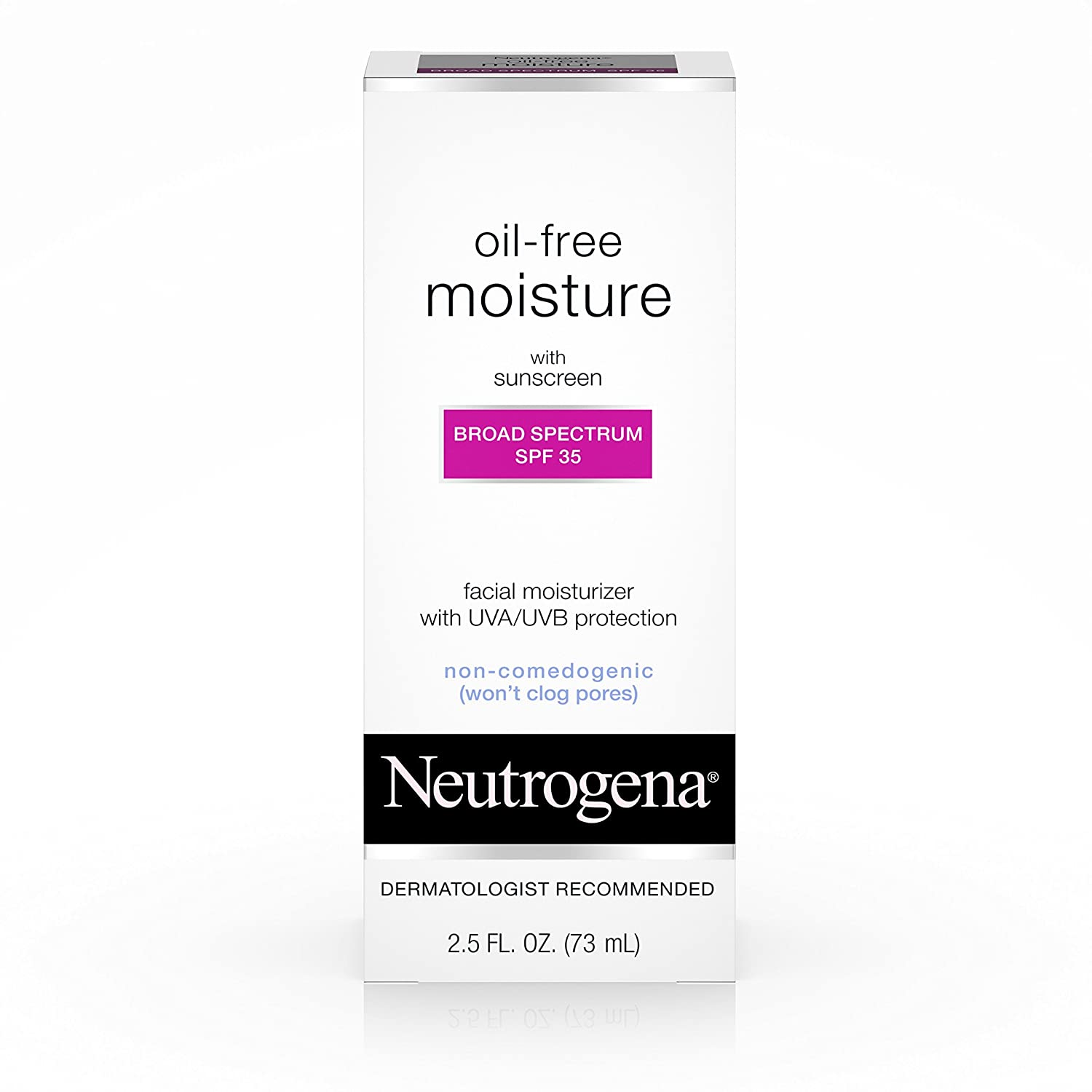 Neutrogena Oil-Free Daily Facial Moisturizer With Broad Spectrum SPF 35 Sunscreen, Dermatologist Recommended, Fragrance-Free, Non Comedogenic and Hypoallergenic 2.5 fl. oz Johnson & Johnson SLC J&J494716