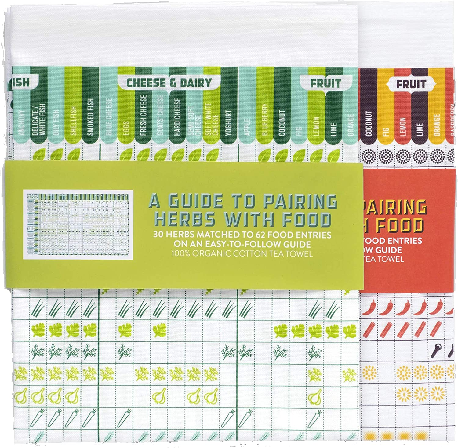 Prince of Scots Herb & Spice Pairing Kitchen Towel Pairing Set