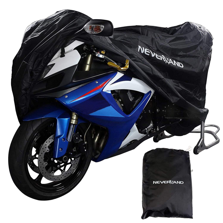 Neverland Lブラックオートバイストレージカバー防水アウトドアインドア雨ダストUVプロテクターバイク L(220x95x110CM) ブラック DA01 B071SDPJXX  ブラック L(220x95x110CM)