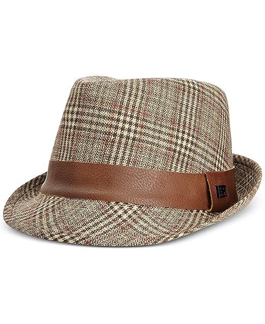 83f5e3c4860 Sean John Men s Tweed Plaid Fedora  Amazon.ca  Clothing   Accessories
