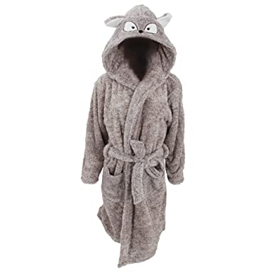Womens/Ladies Supersoft Hooded Animal Design Dressing Gown (Small ...