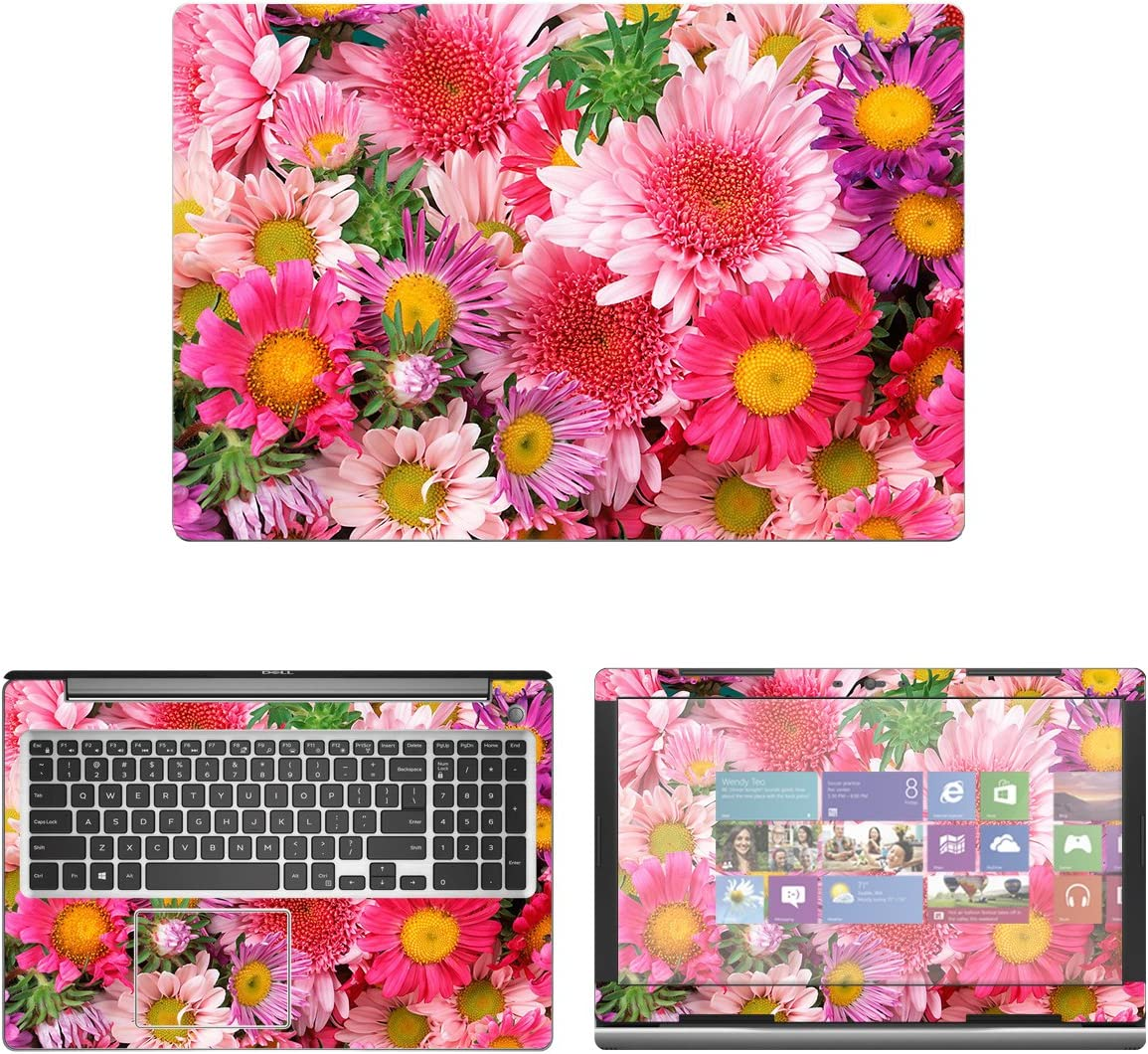 "decalrus - Protective Decal Floral Skin Sticker for Dell Inspiron 15 i5570 / 5570 (15.6"" Screen) case Cover wrap DEinspironi5570-211"