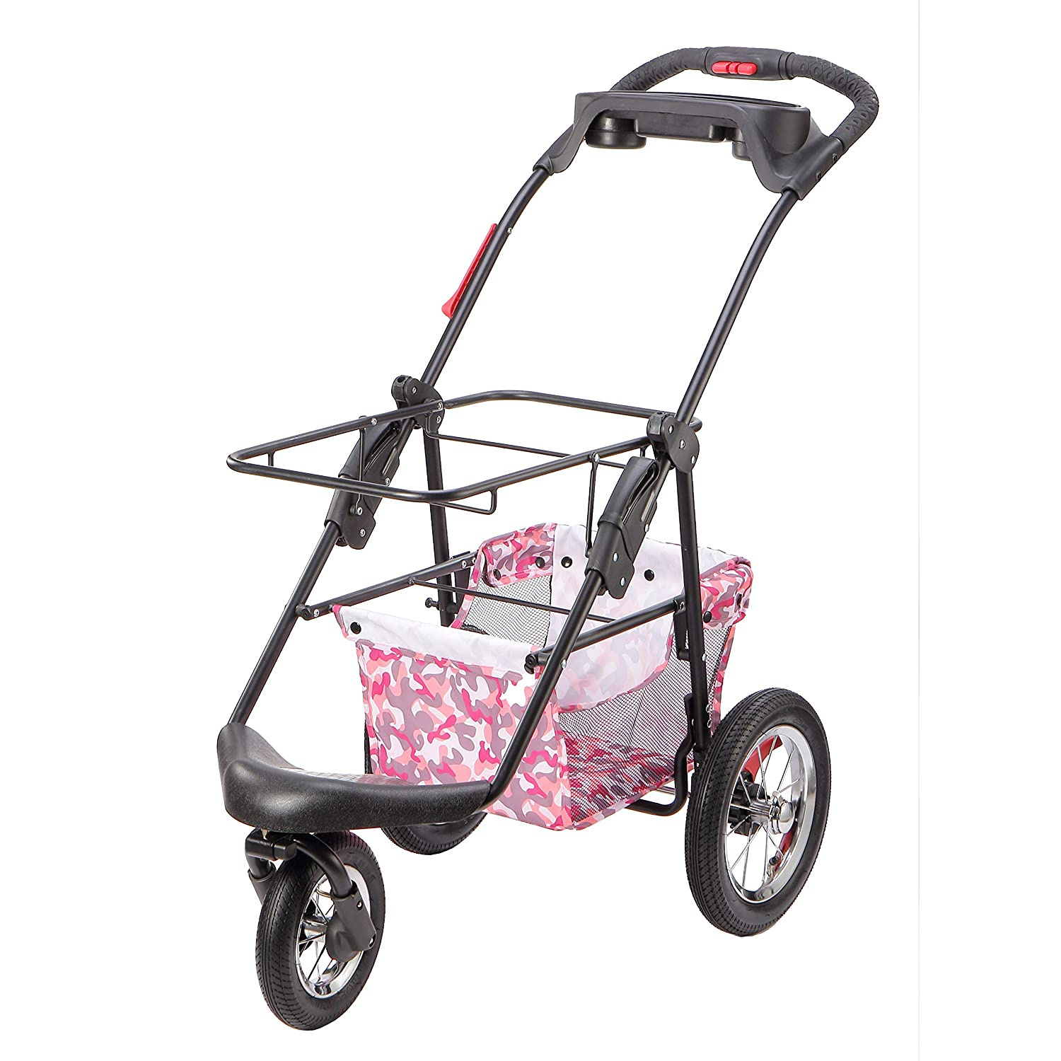Pink Camo Petique Pet Stroller, Pink Camo, One Size