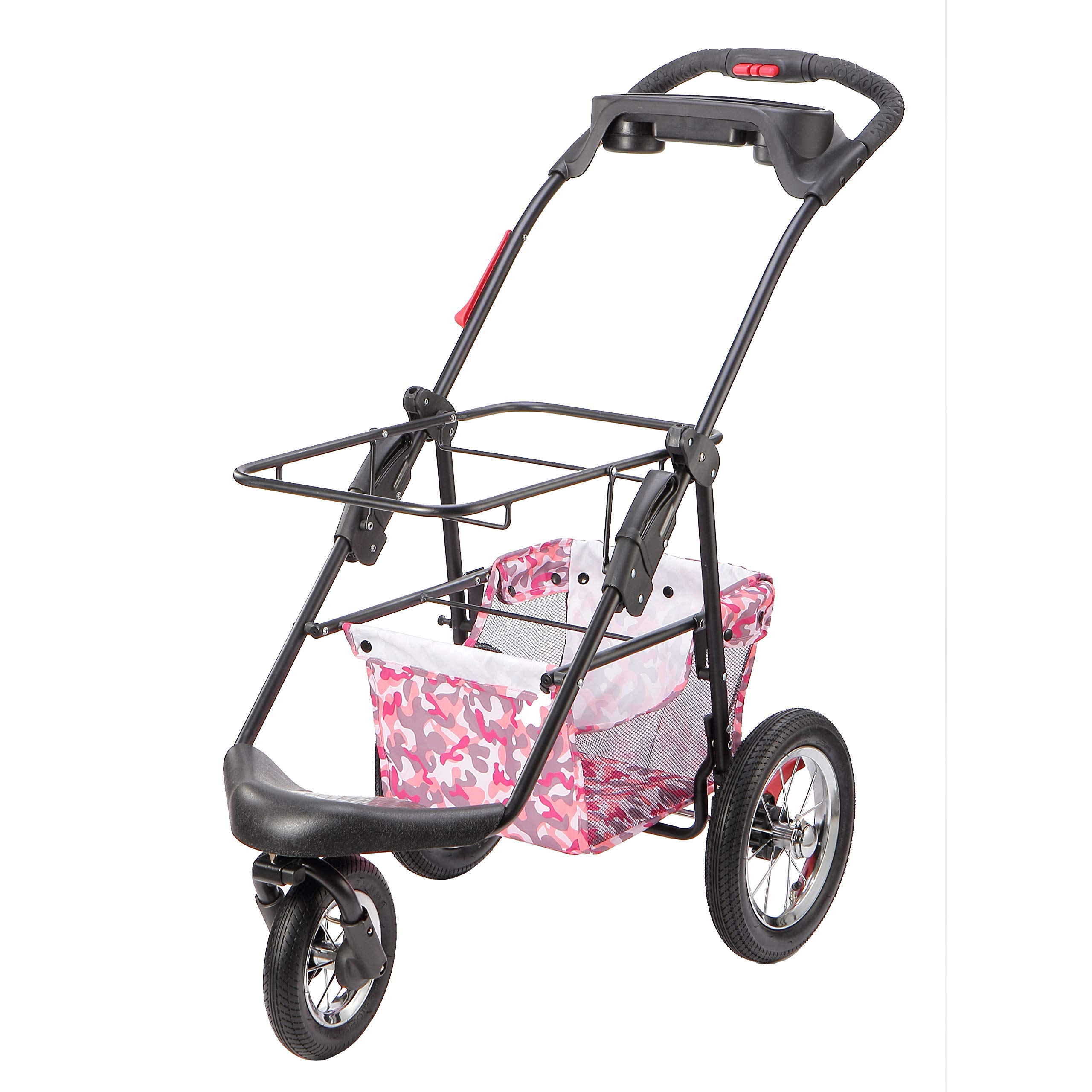 Petique Pet Stroller, Pink Camo, One Size by Petique