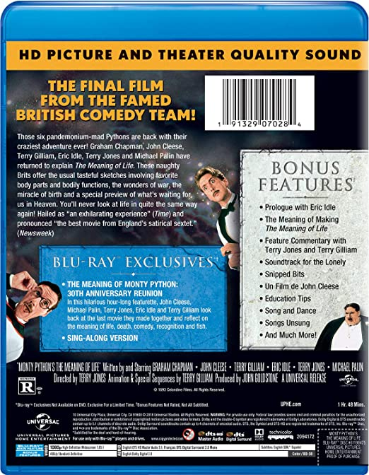 Amazon com: Monty Python's The Meaning of Life [Blu-ray]: Graham