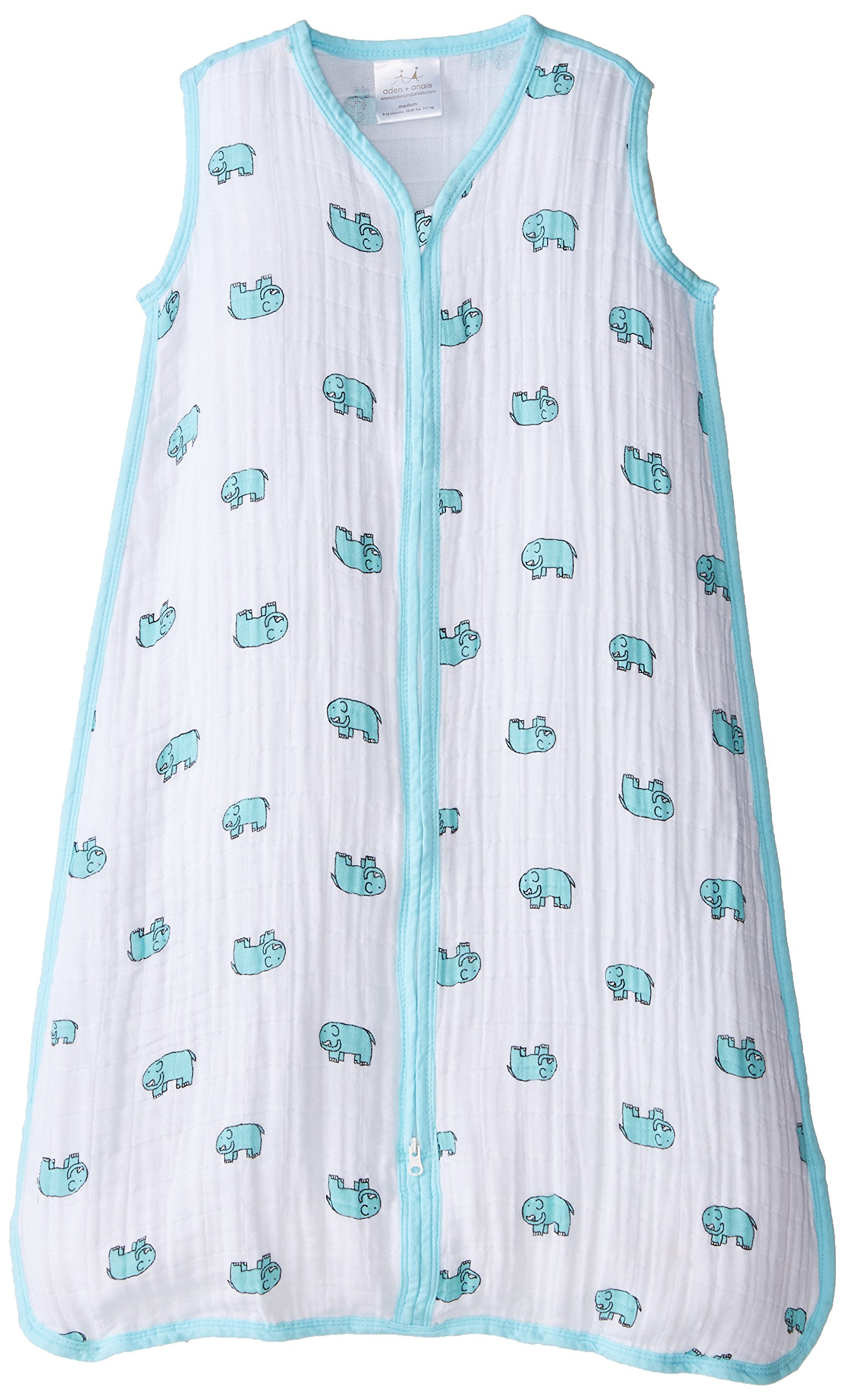 aden + anais Sleeping Bag, Jungle Jam- Elephant, M