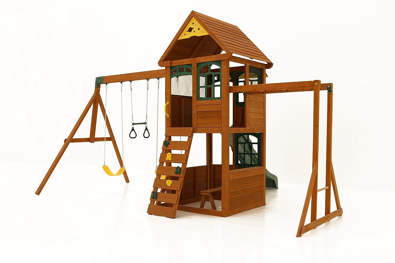 amazon com cedar summit stirling manor playset by kidkraft toys
