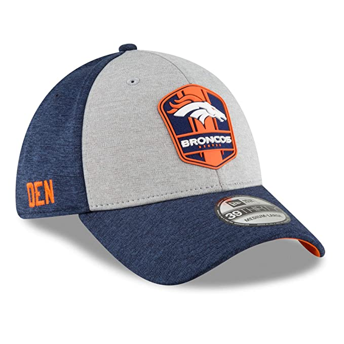 hot sale online 4f9c4 e5ff6 New Era Denver Broncos 2018 NFL On Field Road 39THIRTY Cap - Small Medium