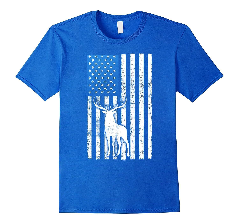 a6ff023c Deer Hunter American Flag Tshirts- Funny Deer hunting shirt – Hntee.com