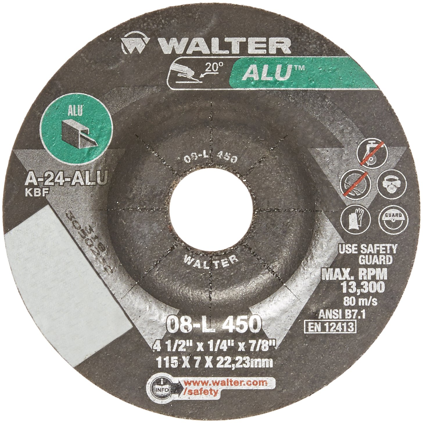 Walter Aluminum Performance Grinding and Cutting Wheel