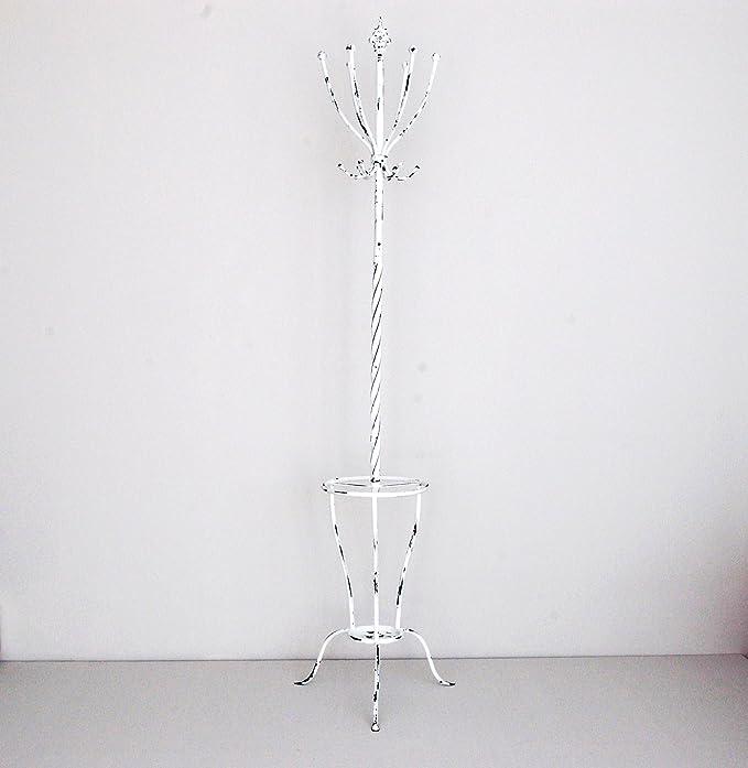 Sukima Decor Perchero de pie forja Blanca 189cm: Amazon.es ...
