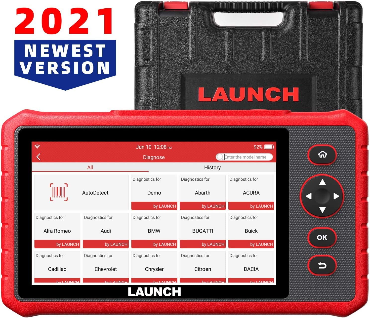 LAUNCH Scanner CRP909X Full Systems Diagnostic Scanner, 16 Reset IMMO, ABS Bleed, EPB, SAS,7.1 Android Auto VIN Scan Tool 7.0'' Touchscreen WiFi One-Click Free Update Diagnostic Tool,2021 New Version
