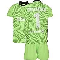 AMD SPORTS Barca Camiseta para niños TER Stegen Viene con Pantalones Cortos y Calcetines, edición hogar Tallas para…