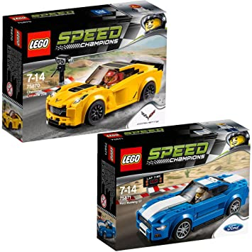Lego Speed Champions 2pcs. set 75870 75871 Chevrolet Corvette Z06 ...
