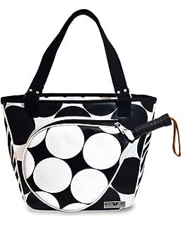 IDAWEN Sport Fashion Bolso de Padel Mujer Lunares. Paletero con Bolsillo para Pala de Padel